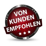 German Web Button - Translation: Recommended By Customers. Vector Illustration - Isolated On White Background Royalty Free Stock Images