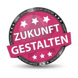 German Web Button - Translation: Shape The Future - Vector Illustration. Isolated On White Background Stock Images