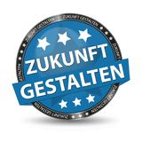 German Web Button - Translation: Shape The Future - Vector Illustration. Isolated On White Background Stock Image