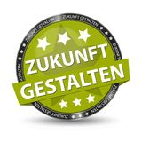 German Web Button - Translation: Shape The Future - Vector Illustration. Isolated On White Background Stock Photography