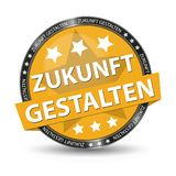German Web Button - Translation: Shape The Future - Vector Illustration. Isolated On White Background Royalty Free Stock Images