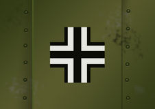 German wehrmacht Markings WWII. Markings applied to german hardware Stock Photo
