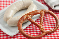 German white sausage Royalty Free Stock Image