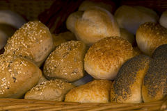 German whole meal bread. Fresh cut German whole meal bread Royalty Free Stock Image