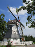 German windmill. On north sea Royalty Free Stock Photography