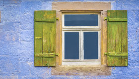 German window with shutters Stock Image