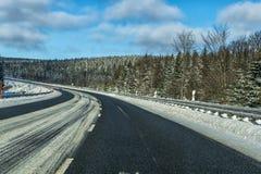 German Winter Road Royalty Free Stock Photo