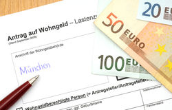 German Wohngeld Stock Photo