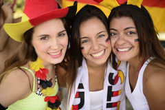 German women soccer or sport  fans. Royalty Free Stock Images