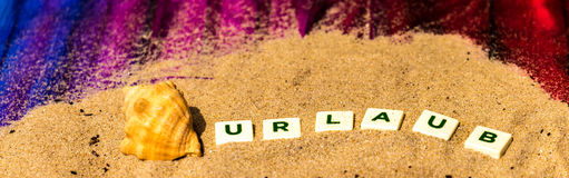 German Word `Urlaub` written Royalty Free Stock Photo