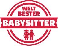 German world`s best Babysitter button. Vector icon Stock Photography