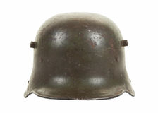 German World War One Steel Combat Helmet Frontal View Royalty Free Stock Image