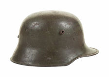 German World War One Steel Combat Helmet in Profile Stock Images