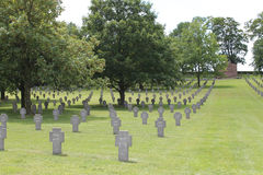 German WW1 cemetery, Rancourt, France Royalty Free Stock Photos