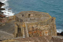 WW11 German coastal flak bunker Guernsey Royalty Free Stock Images
