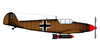 German WW2 fighter. On white background Stock Photos