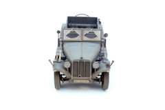 German WWII artillery tractor Sd.Kfz.10 D7. World War II German 1 ton halftrack prime mover somewhere on Ost front in 1942 front view Royalty Free Stock Photo