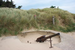 German WWII Gun on the Beach Stock Photography