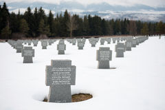 German WWII military cemetery in Vazec, Slovakia Stock Images