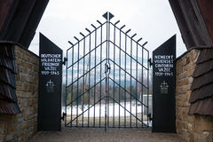 German WWII military cemetery in Vazec, Slovakia Royalty Free Stock Image