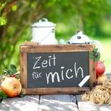 German Zeit für mich Stock Photography
