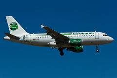 Germania Airbus A319 Plane. In the sky Royalty Free Stock Photo
