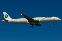 Germania Airbus A321 Plane. In the sky Royalty Free Stock Photography