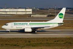 Germania Boeing 737 Imágenes de archivo libres de regalías