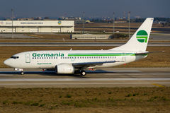 Germania Boeing 737 Royalty Free Stock Images