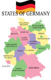Germania Map with states. Stock Photos