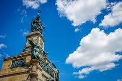 The Germania statue at the Niederwalddenkmal above Rüdesheim am. Rhein Royalty Free Stock Photos