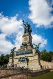 The Germania statue at the Niederwalddenkmal above Rüdesheim am. Rhein Stock Photography