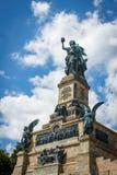 The Germania statue at the Niederwalddenkmal above Rüdesheim am. Rhein Royalty Free Stock Image
