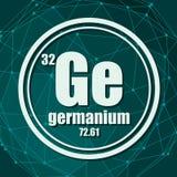 Germanium chemisch element royalty-vrije illustratie