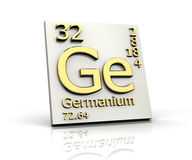 Germanium form Periodic Table of Elements Royalty Free Stock Photo