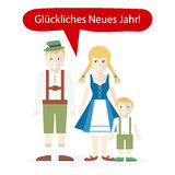 Germans People Congratulations Happy New Year Royalty Free Stock Images