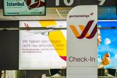 germanwings报到区域 库存图片