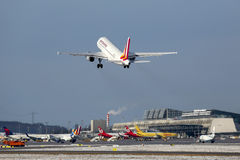 Germanwings Airbus A319 airplane Stuttgart airport Royalty Free Stock Photo
