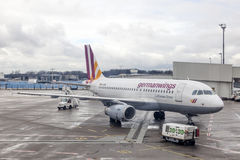GermanWings aircraft in Cologne Airport, Germany Royalty Free Stock Photography