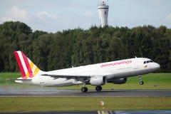 Germanwings flygbuss A320 Arkivbild