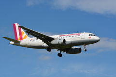 Germanwings flygbuss A319/MSN 3839/D-AGWM Arkivbild