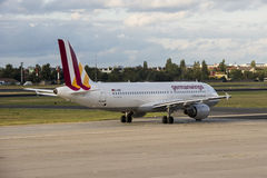 320 Germanwings op Grond Stock Fotografie