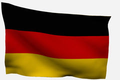 Germany 3d flag. Isolated on white background Stock Image
