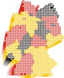 Germany. 3d silhouette of Germany map Stock Images