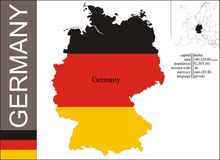 Germany. Flag and area illustration vector illustration