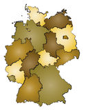 Germany administration map Royalty Free Stock Image