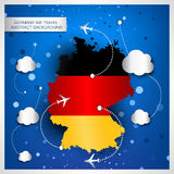 Germany air travel abstract background Stock Images