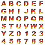 Germany alphabet on white background Royalty Free Stock Photos
