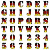 Germany alphabet on white background Royalty Free Stock Photos