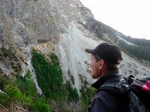 germany Alpi Allgäu Scalatore nelle alpi fotografie stock libere da diritti